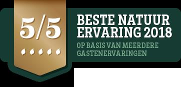 Beste natuurervaring 2018 - Natuurhuisje.nl